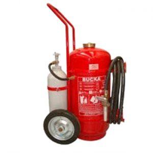 Extintor de Incêndio Sobre Rodas Pó Química ABC