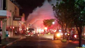 Curto-circuito causa princípio de incêndio em agência da Caixa em Ipueiras