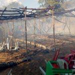 Incêndio em barraca assusta clientes e funcionários às margens do Rio Acaraú, em Santa Quitéria