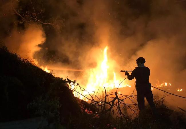 Bombeiros combatem incêndios em vegetação em diversos bairros de Uberaba
