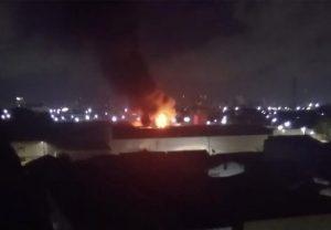 Empresa de materiais elétricos é atingida por incêndio na Avenida Bezerra de Menezes