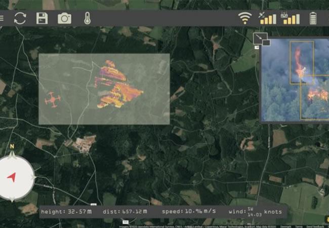 Novo sistema de drone auxilia no combate a incêndios florestais