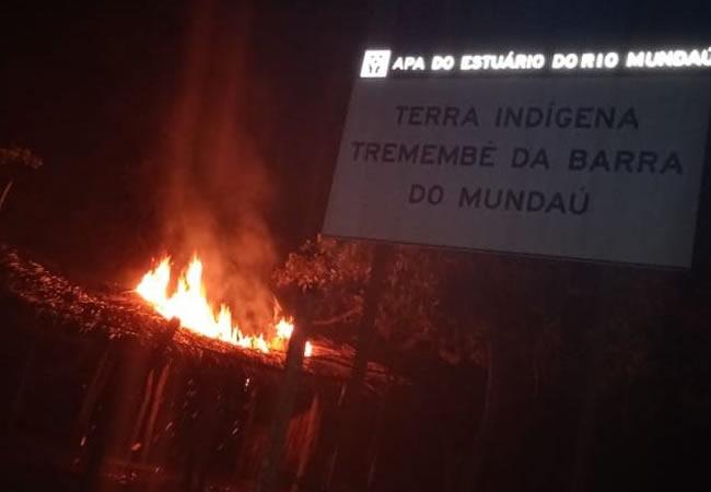 Incêndio atinge terra indígena em Itapipoca; Povo Tremembé acredita em ataque