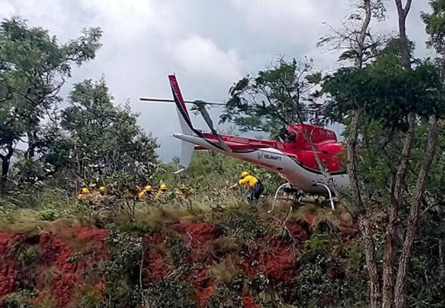 Equipe de Combate a Incêndio Florestal Aeroterrestre faz apresentação à Operação Corta-Fogo